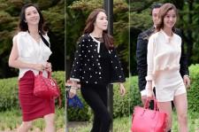 Actress Song Yoon Ah, Choi Ji Woo and Yoon So Yi Attend As Guest At Shin Hyun Joon's Wedding on May 26, 2013