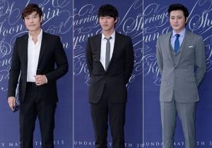 Top Actors Lee Byung Hun, Hyun Bin and Jang Dong Gun Attend As Guest At Shin Hyun Joon's Wedding on May 26, 2013