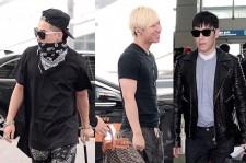 Big Bang's T.O.P, Taeyang, Daesung, Seungri Leaves for Nagoya, Japan For Attending 'G-DRAGON 2013 WORLD TOUR' - June 1, 2013