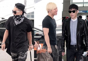 Big Bang's T.O.P, Taeyang, Daesung, Seungri Leaves for Nagoya, Japan For Attending 'G-DRAGON 2013 WORLD TOUR' - June 1, 2013