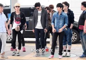 ZE:A(Kevin, Kwanghee, Siwan, Junyoung, Taeheon, Heechul, Minwoo, Hyungsik, Dongjun) Leaving For Attending The