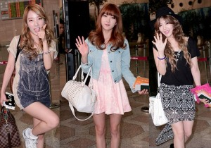 Rainbow (Woo-ri, Seung-ah, Jae-kyung, No Eul, Yoon-hye, Ji-sook, Hyun-young) Leaving For Attending The