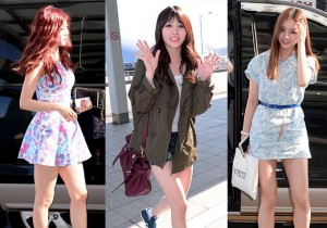 Girls Day(Sojin, Yura, Minah, Hyeri) Leaves For