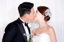 Baek Ji Young and Jung Suk Won's Wedding Press Conference on May 2, 2013