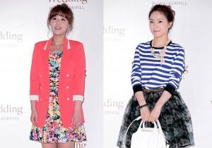 90s Singers Lee Jung Hyun, Chae Ri Na, Shin Ji, Wax, Park Jung Hyun Attend as a Guest at Baek Ji Young & Jung Suk Won's Wedding on May 2, 2013
