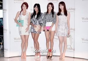 SISTAR (Hyorin, Dasom, Soyou, Bora) Attends as a Guest at Baek Ji Young & Jung Suk Won's Wedding on May 2, 2013