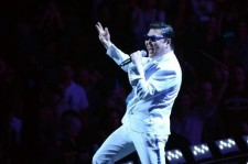 Psy performs his famous