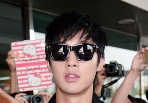Airport Style: Kim Hyun Joong Returns To Korea After Performance At K-Pop Festival 2013 Live In Kumamoto, Japan - June 5, 2013