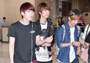 Airport Style: BOYFRIEND Returns To Korea From Haneda, Japan - June 5, 2013