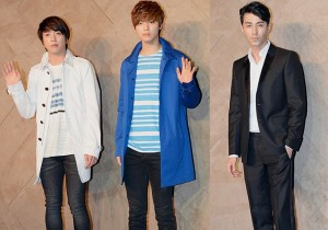 CNBLUE's Jung Yong Hwa, Kang Min Hyuk and Cha Seung Won Attend BURBERRY Opening Ceremony on June 5, 2013