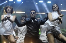 Psy performed in Russia on June 7