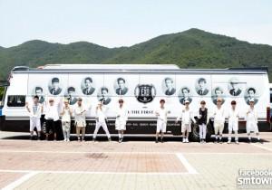 EXO Reveals Their Huge School Bus Photo