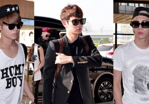 Airport Style: SHINee Leaves for Schedule In Japan on June 10, 2013