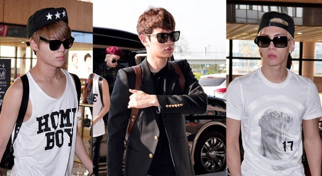 Airport Style: SHINee Leaves for Schedule In Japan on June 10, 2013key=>0 count21