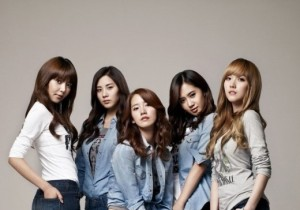 Girls' Generation in Jeans Showing Off Their Slim Figure