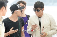Big Bang G-Dragon, TOP Leaving for 'G-Dragon 2013 World Tour One of Kind' In Jakarta, Indonesia - June 14, 2013