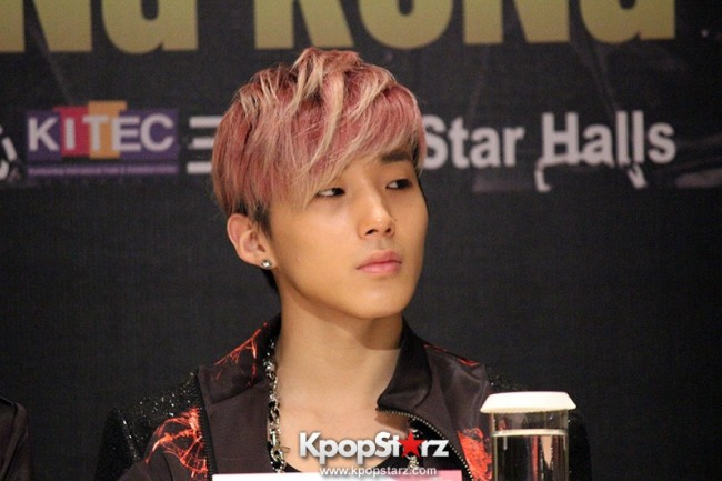 "B.A.P Jongup in ""Live on Earth"" in Hong Kong Press Conference [PHOTOS]key=>7 count11"