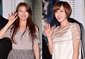 Miss A's Suzy and T-ara's Eunjung