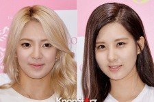 Girls' Generation Seohyun-Hyoyeon Wears Sophisticated Stripes to 'Hair Couture' Asia Launching Fan Sign Event