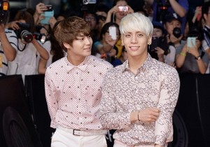 SHINee Dresses in White at the 'Snowpiercer' VIP Red Carpet Event