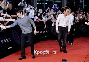 Group Super Junior Sports Casual Chic Outfits at 'Snowpiercer' VIP Red Carpet Event