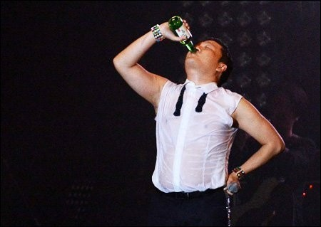 Is Psy an alcoholic or just a typical Korean?