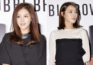 Kahi and Rainbow Jaekyung Chic Black and White Outfits for BOBBI BROWN Promotional Event