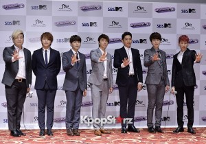 Super Junior Poses at 'Super Show4 3D' Movie Premiere