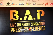 B.A.P Shows Appreciation At 'Live On Earth' Singapore Press Conference, 'Right Now Is A Very Special Moment For Us'  [PHOTOS]