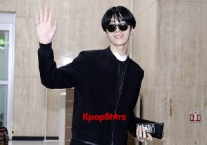 ICON (No Min Woo) All Black Leaving for Japan