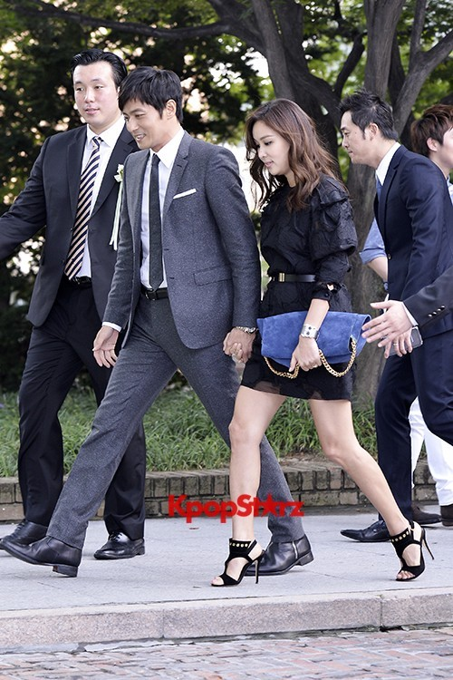 Jang Dong Gun-Ko So Young in Black and Gray for Lee Byung Hun-Lee Min Jung Weddingkey=>1 count8