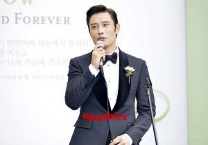 Lee Byung Hun in Crisp Black Suit for Wedding Day