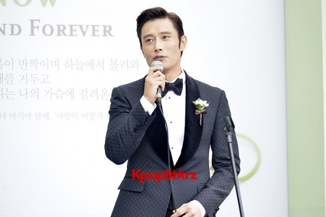 Lee Byung Hun in Crisp Black Suit for Wedding Daykey=>0 count6