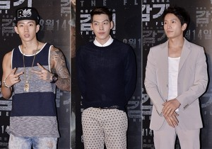 Jay Park,-Kim Woo Bin-Ji Sung Dress Up for Movie 'The Flu' VIP Red Carpet - Aug 7,2013
