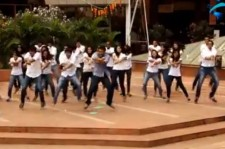 Indian students dance to Psy's