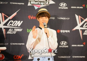 KCON 2013 Yoo Seung Woo Greets the Media at M! Countdown What's Up LA Press Conference [PHOTOS]