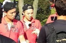 Big Bang G-Dragon, Seungri, Daesung filming 'Running Man'